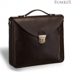 Brialdi Planck (Планк) brown Вертикальный деловой портфель