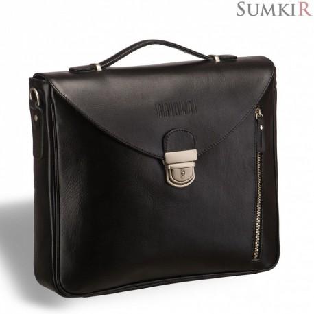 Brialdi Planck (Планк) black Вертикальный деловой портфель