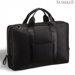 Brialdi Vito (Вито) black Кожаная сумка через плечо