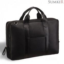 Brialdi Atengo (Атенго) black Удобная деловая сумка для документов