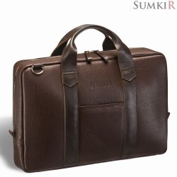 Brialdi Atengo (Атенго) brown Удобная деловая сумка для документов
