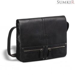 Brialdi Vallejo (Валледжо) black Кожаная сумка через плечо
