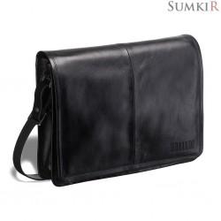Brialdi Ancona (Анкона) black Кожаная сумка через плечо