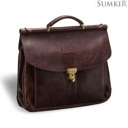 Brialdi Bergamo (Бергамо) antique brown Классический портфель