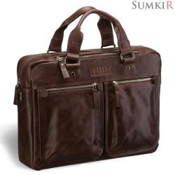 Brialdi Parma (Парма) antique brown Деловая сумка для документов