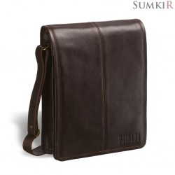 Brialdi Boston (Бостон) brown Кожаная сумка через плечо