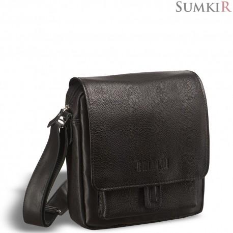 Brialdi Lucca (Лукка) black Кожаная сумка через плечо
