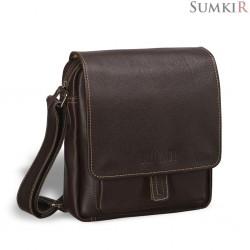 Brialdi Lucca (Лукка) brown Кожаная сумка через плечо