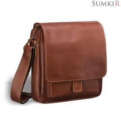 Brialdi Lucca (Лукка) red Кожаная сумка через плечо